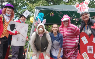 The Mad Hatter takes tea at Princess Christian Care Home