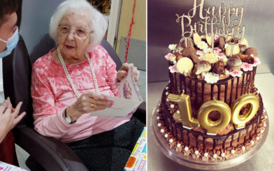 Joyce celebrates her 100th birthday at Princess Christian Care Home