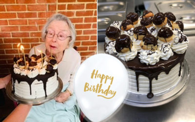 Marjorie at Princess Christian Care Home celebrates her birthday