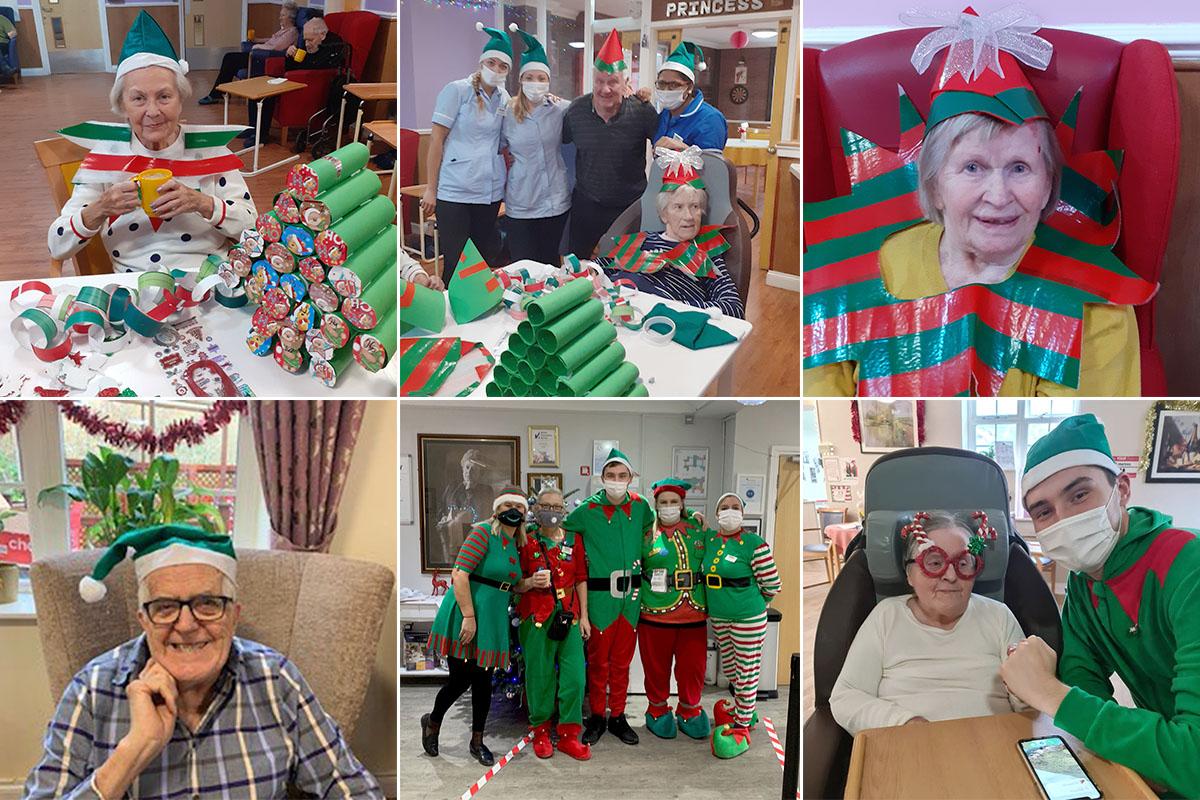 Christmas Elves arrive at Princess Christian Care Home