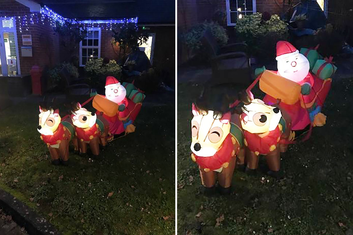 Princess Christian Care Home welcomes Santa and his sleigh