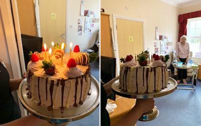 Many happy returns to Barbara at Princess Christian Care Home