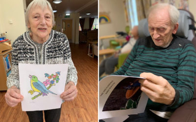 Bird spotting and colouring at Princess Christian Care Home