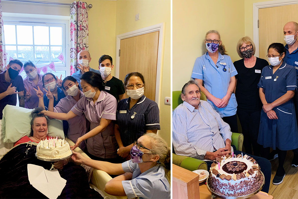 Happy birthday to Sally and Keith at Princess Christian Care Home