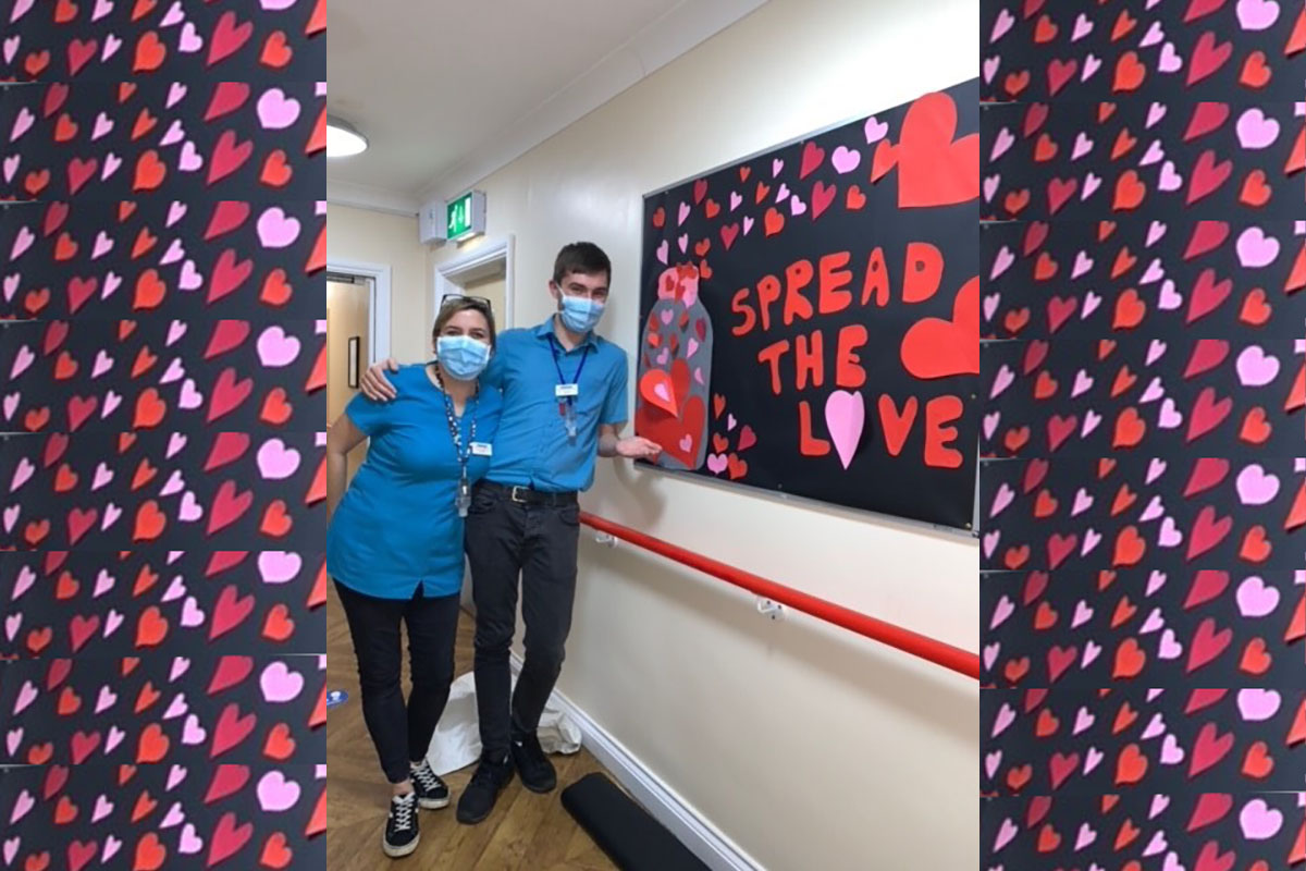 Spreading the love at Princess Christian Care Home