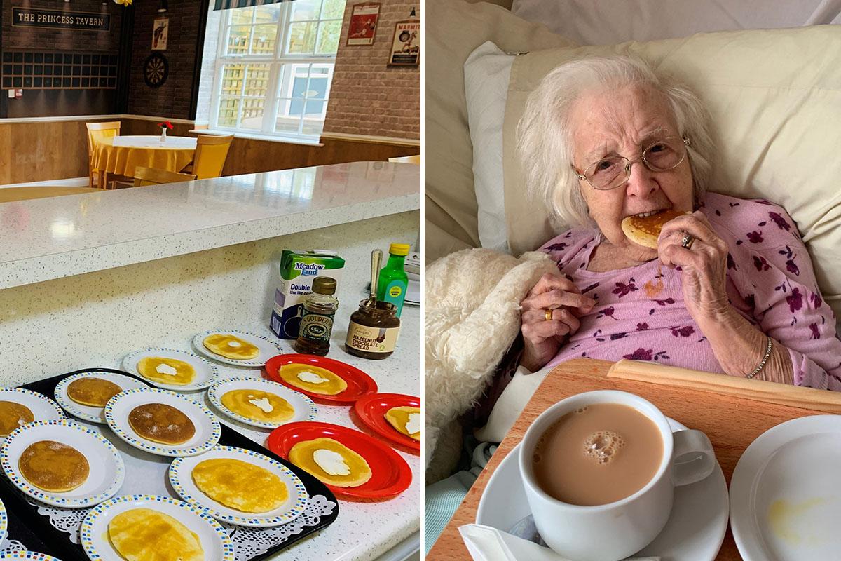Perfect pancakes at Princess Christian Care Home