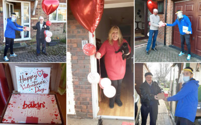 Special Valentine deliveries from Princess Christian Care Home