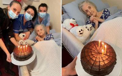 Happy birthday to Nancy at Princess Christian Care Home
