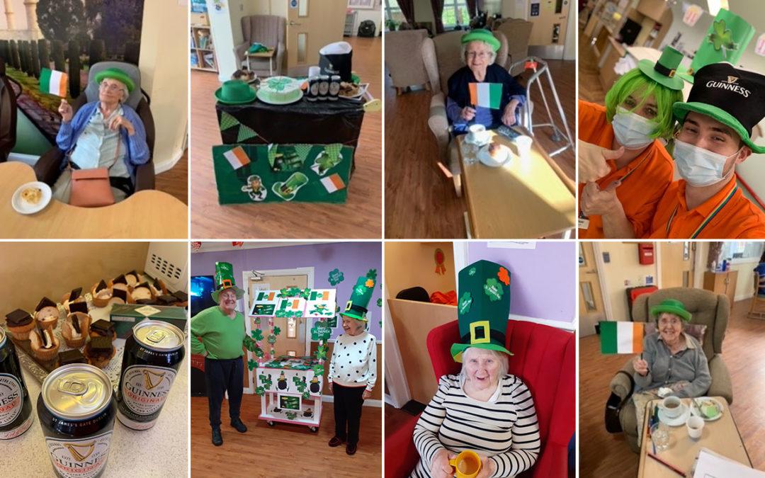 Princess Christian Care Home residents celebrate St Patricks Day