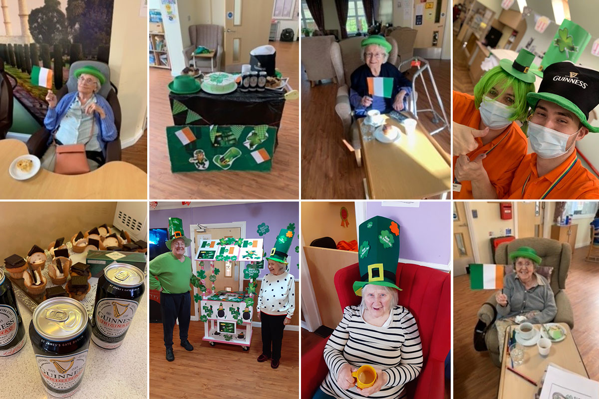 Princess Christian Care Home residents celebrate St Patricks Day