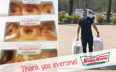 Princess Christian Care Home thank staff with doughnuts