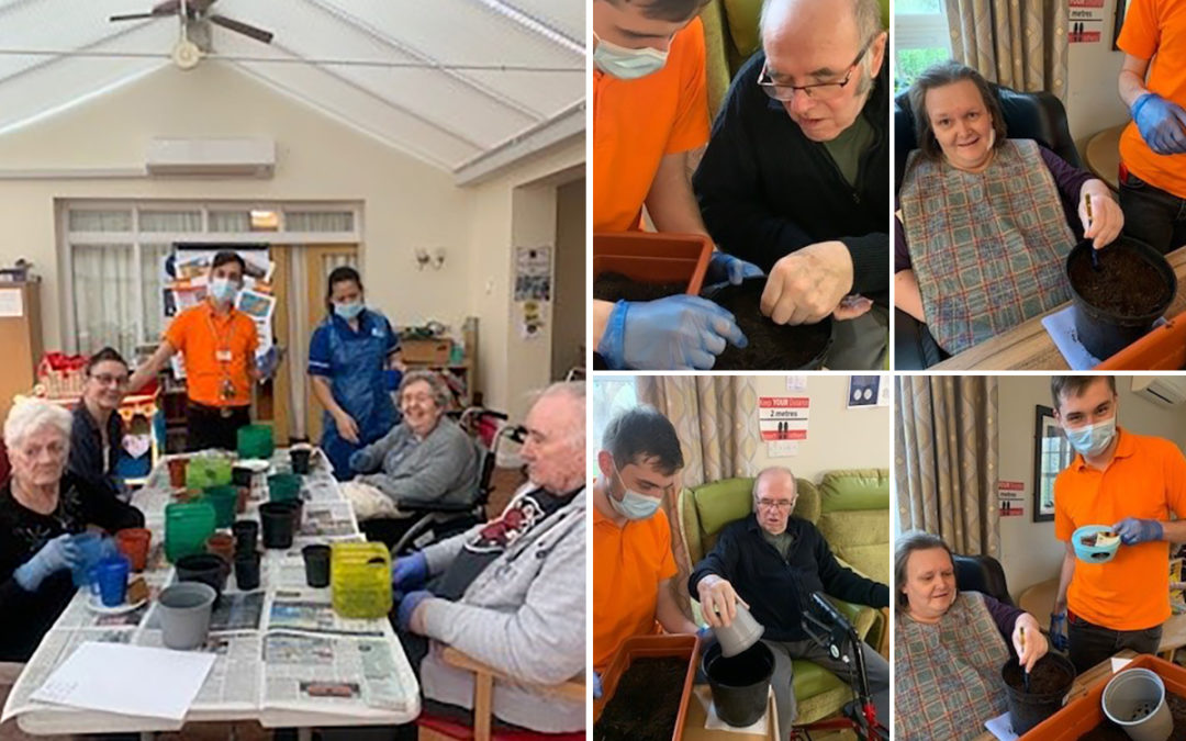 Princess Christian Care Home residents plant seeds for the summer
