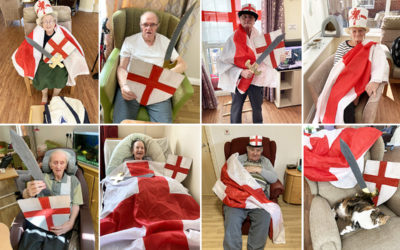 Princess Christian Care Home residents celebrating St George's Day