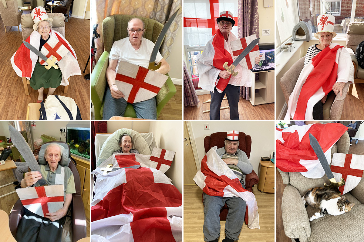Princess Christian Care Home celebrates St Georges Day