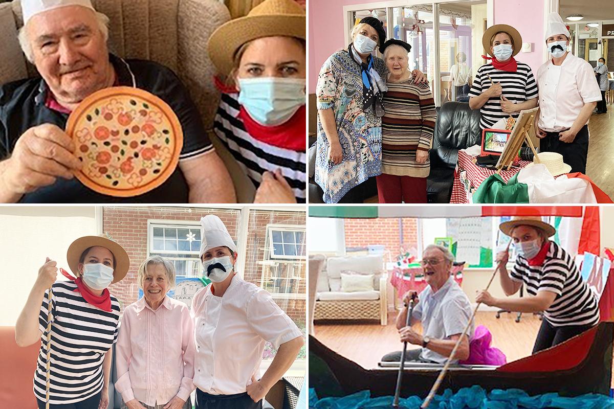 Italian fun at Princess Christian Care Home