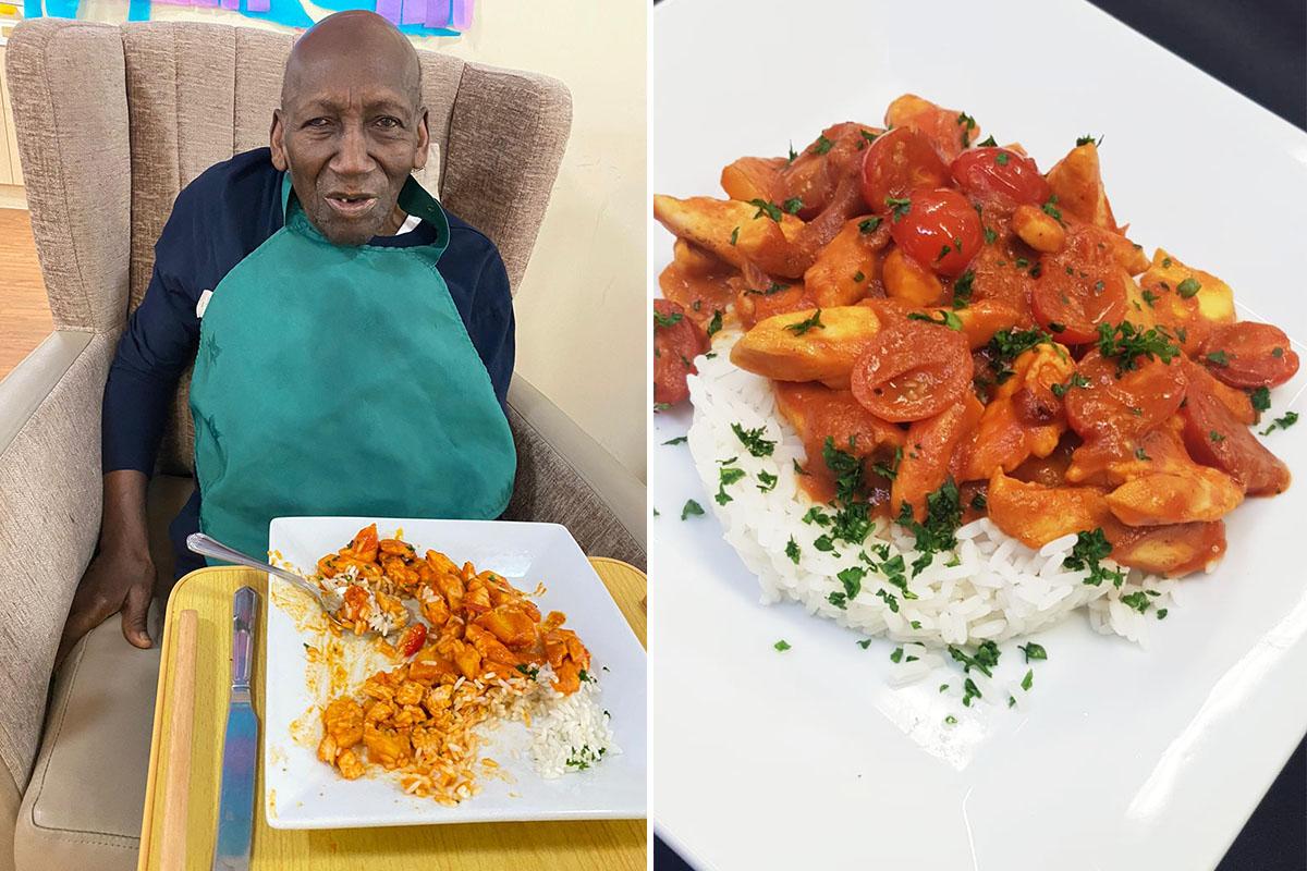 Praise for Caribbean cuisine at Princess Christian Care Home