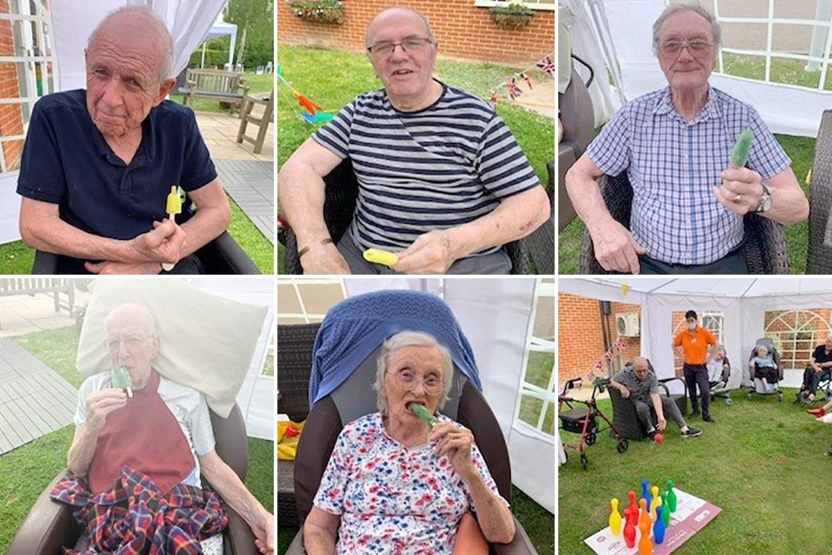 Group games and ice lollies at Princess Christian Care Home