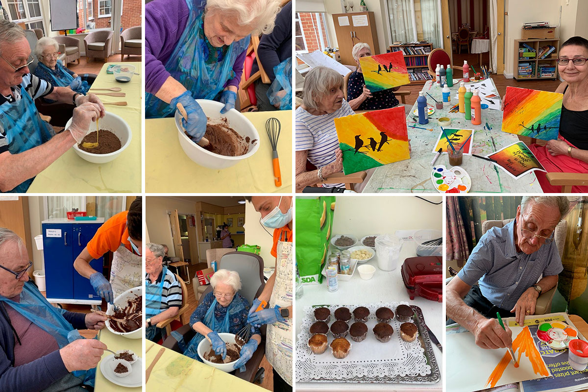Chocolate muffins and Jamaican art at Princess Christian Care Home