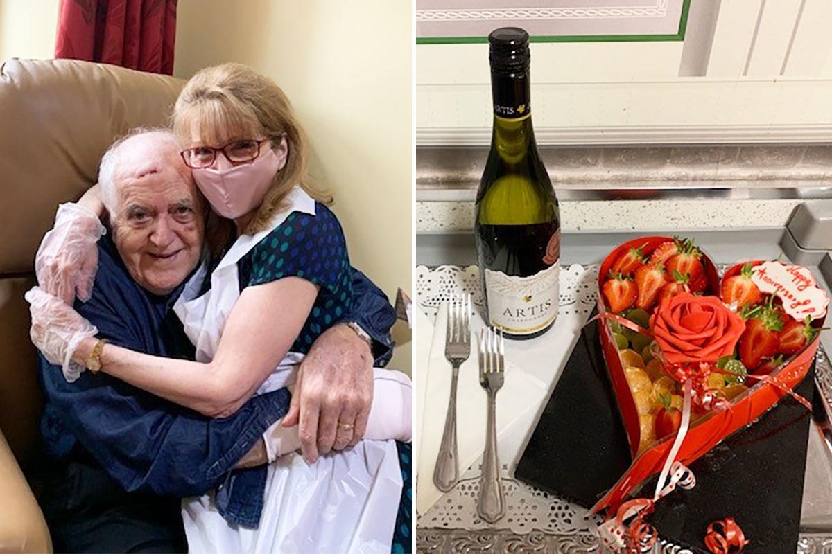 Anniversary love at Princess Christian Care Home