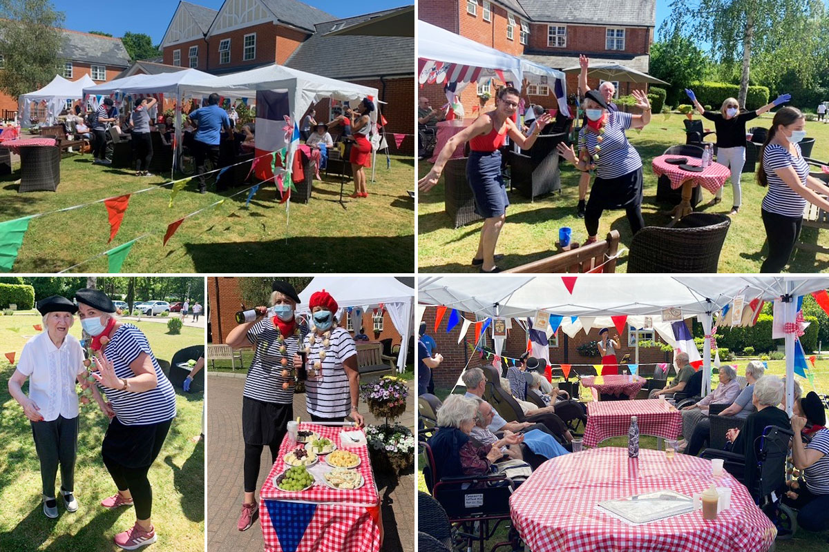 Celebrating French culture at Princess Christian Care Home
