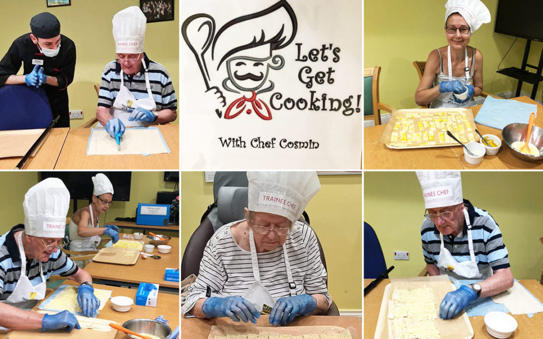 Princess Christian Care Home residents make cheese straws with Cosmin