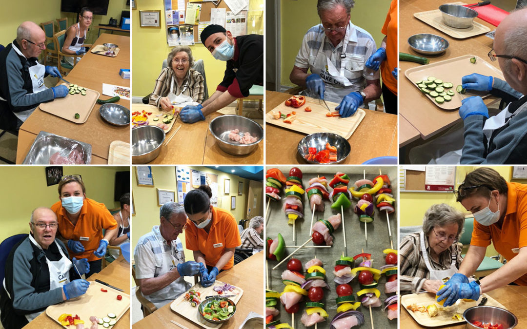 Kebab creations with Cosmin at Princess Christian Care Home