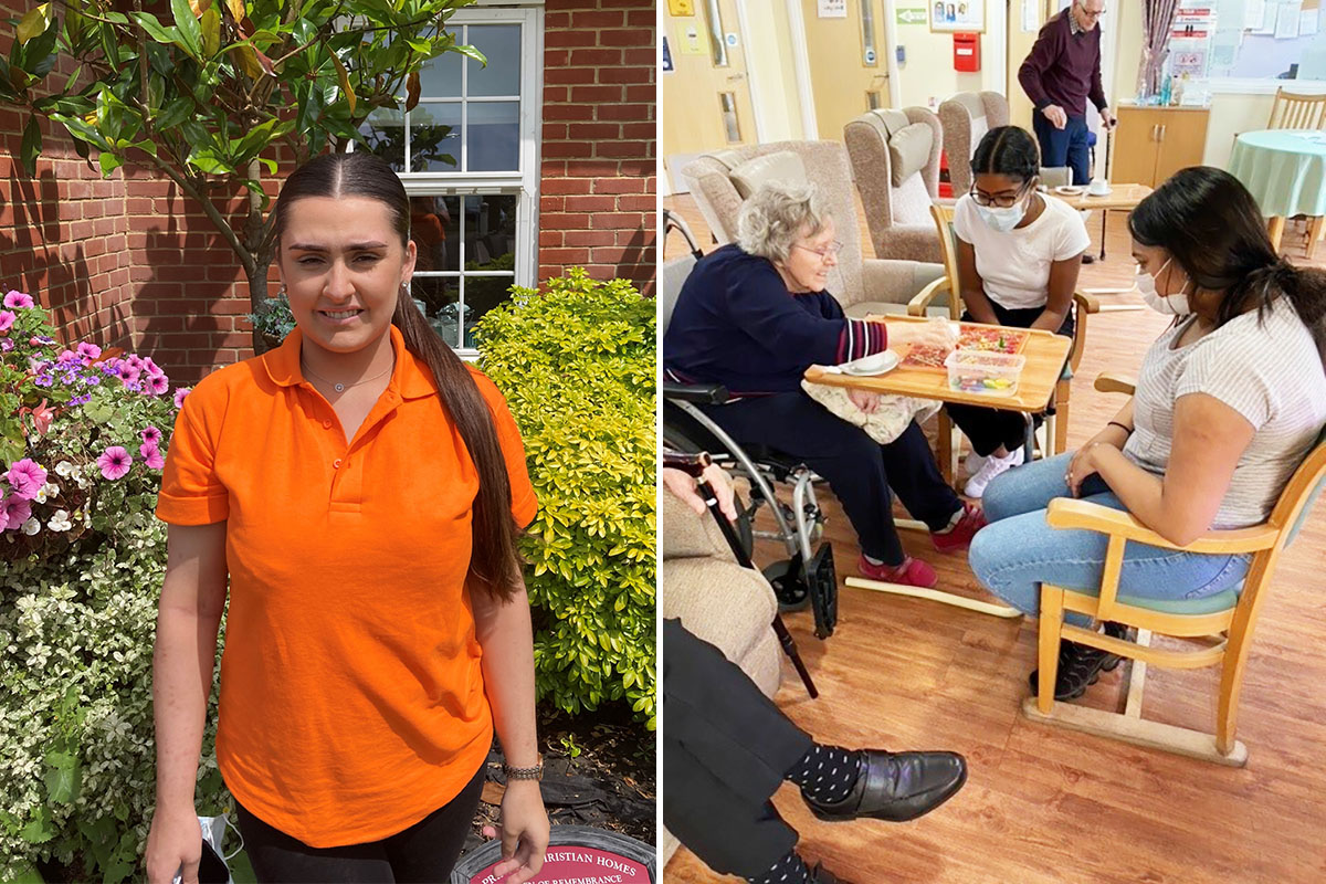 New staff member and work experience volunteers at Princess Christian Care Home