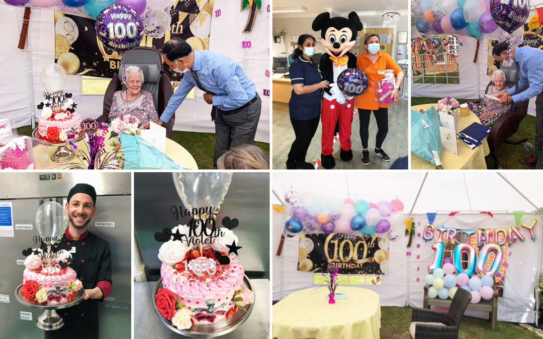 Happy 100th birthday to Violet at Princess Christian Care Home
