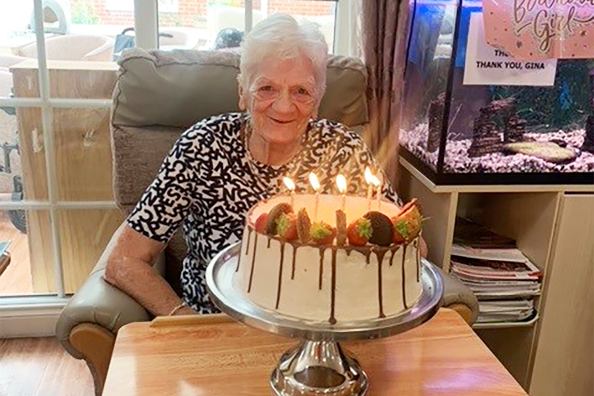 Surprise birthday visit for Doreen at Princess Christian Care Home
