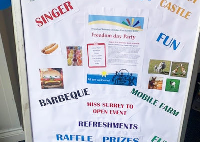Freedom party fun for residents and families at Princess Christian Care Home 3