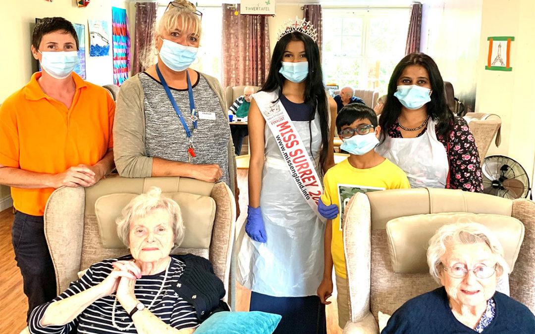 Miss Surrey visits Princess Christian Care Home
