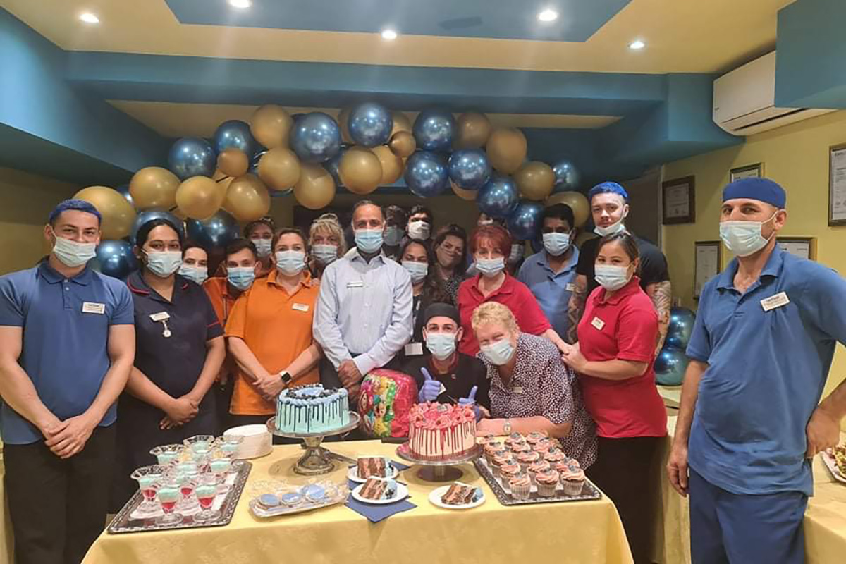 Double cake celebrations at Princess Christian Care Home