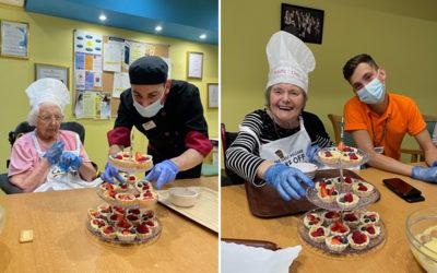 Residents make fruit tarts together at Princess Christian Care Home