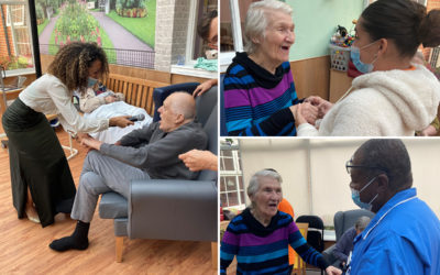 Princess Christian Care Home residents singing and dancing with music from performer Najwa