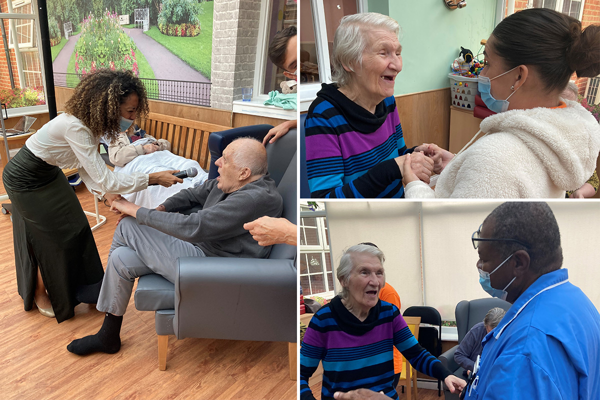 Princess Christian Care Home residents sing and dance with Najwa