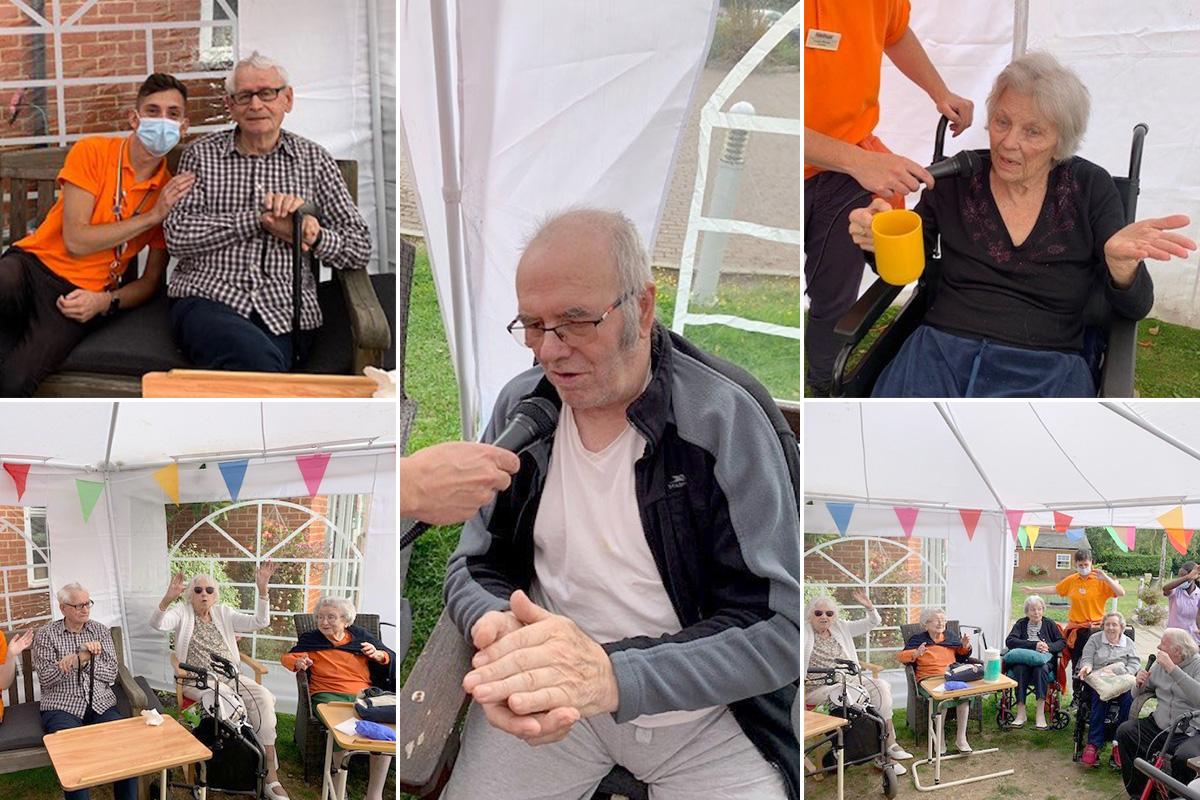 Princess Christian Care Home residents enjoy sing along tea party